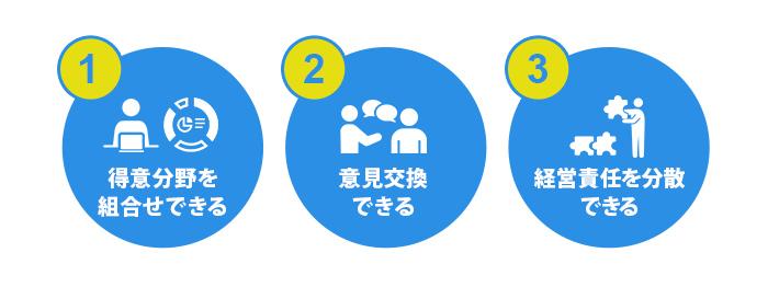 複数人と経営を共同するメリット